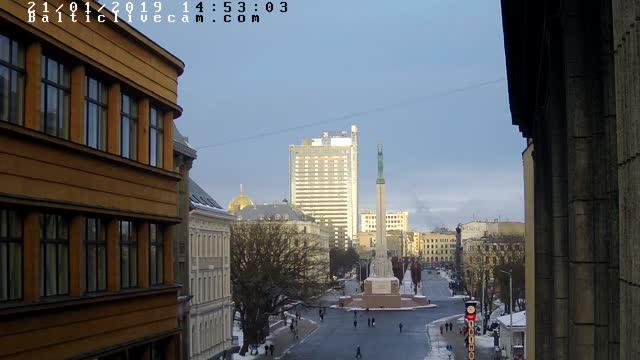 Webcam in Riga - Freedom monument