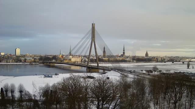 Webcam in Riga - suspension bridge